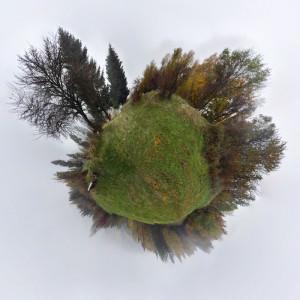 fotka s efektem zeměkoule